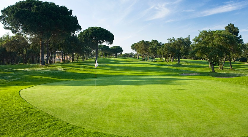 Well manicured greens at Golf Girona