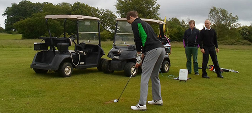 Andy working on compressing the ball better