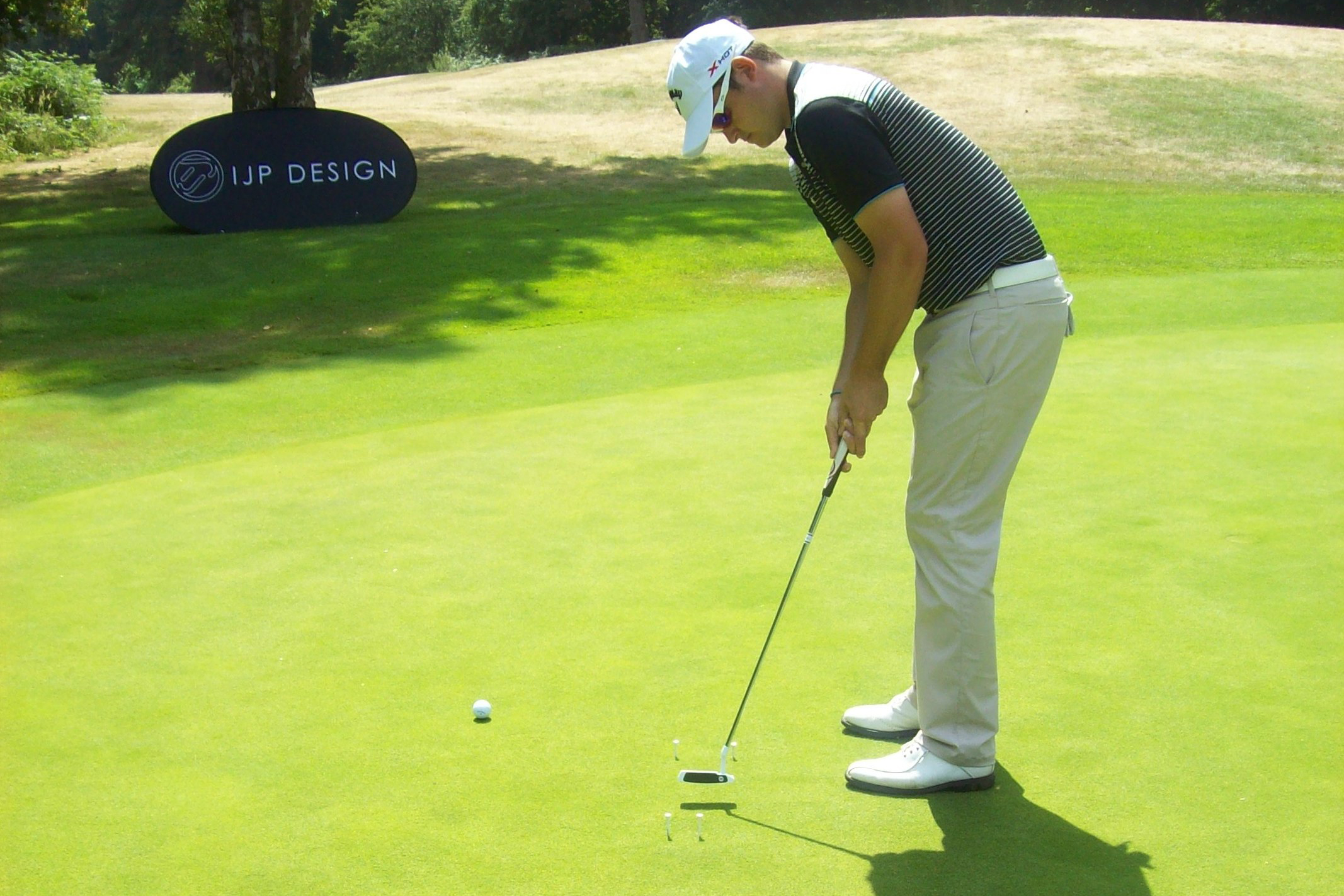 Boyd's holing-out drill will help you keep the putter square