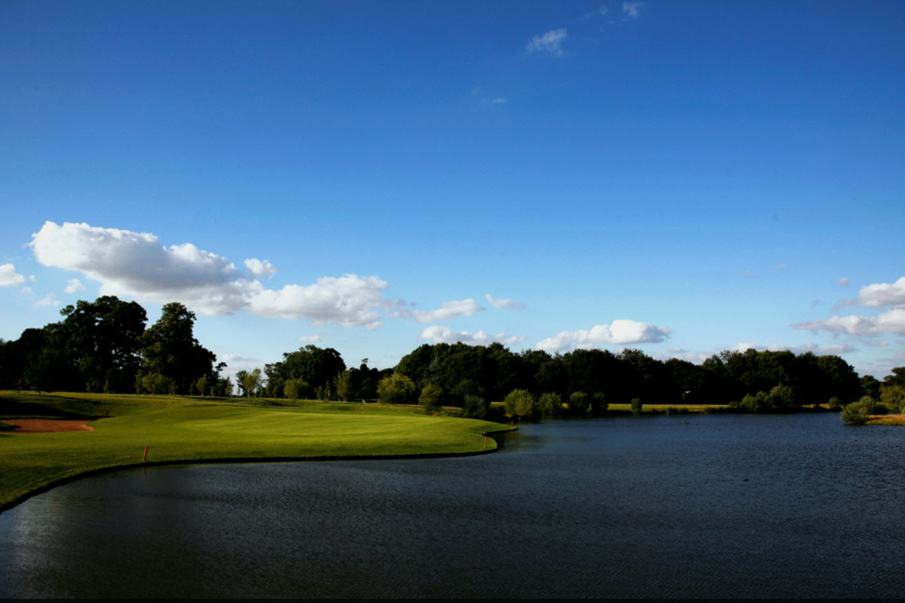 Water is a feature throughout the course