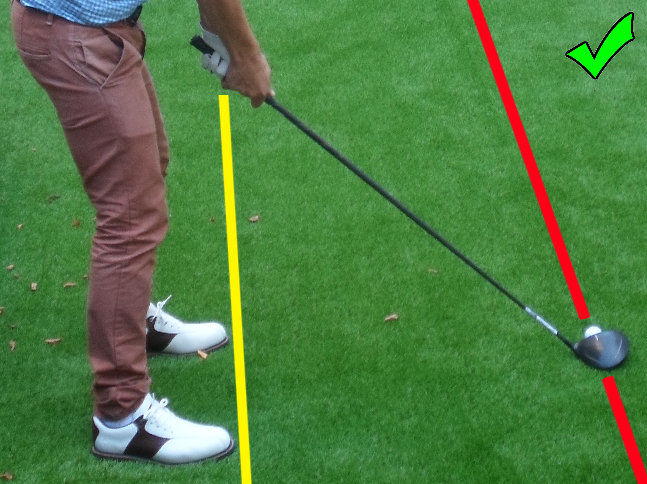 Fig.3 - Make sure your feet are at least square to the target (click to enlarge)