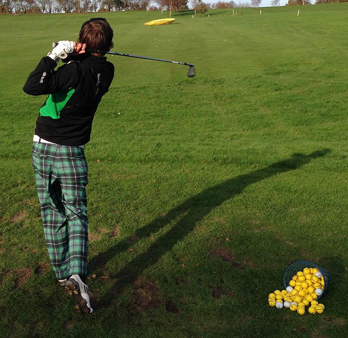 Golfmagic equipment writer Andy Roberts on the range