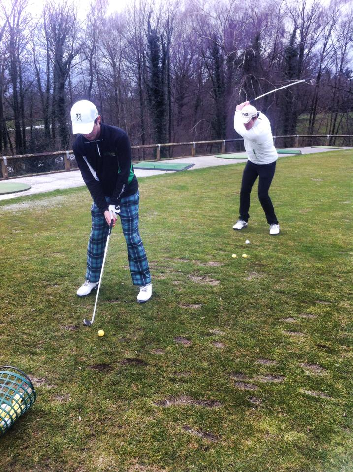 Testers 1 & 2: Golfmagic duo Andy Roberts and Charlie Lemay