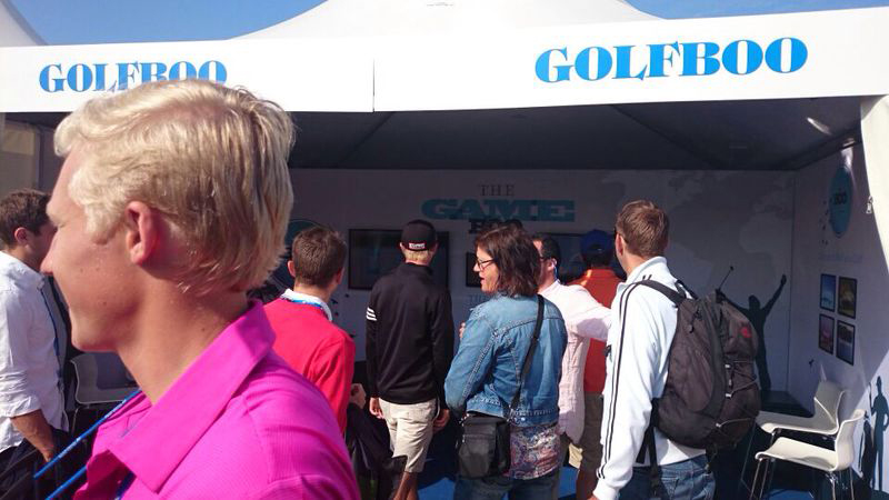 Thousands flocked to the GOLFBOO stand over the course tournament week