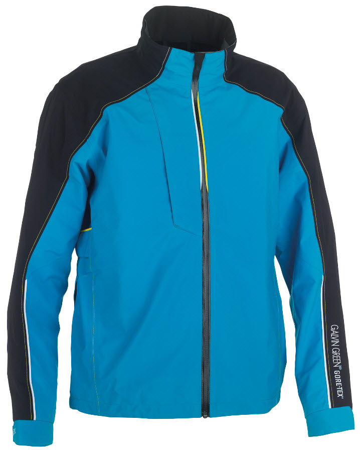 Apex GORE-TEX® jacket in Deep ocean/Black/White/Vibrant yellow