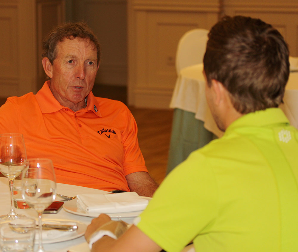 David Leadbetter chats to Golfmagic's Andy Roberts at La Manga Club in Spain