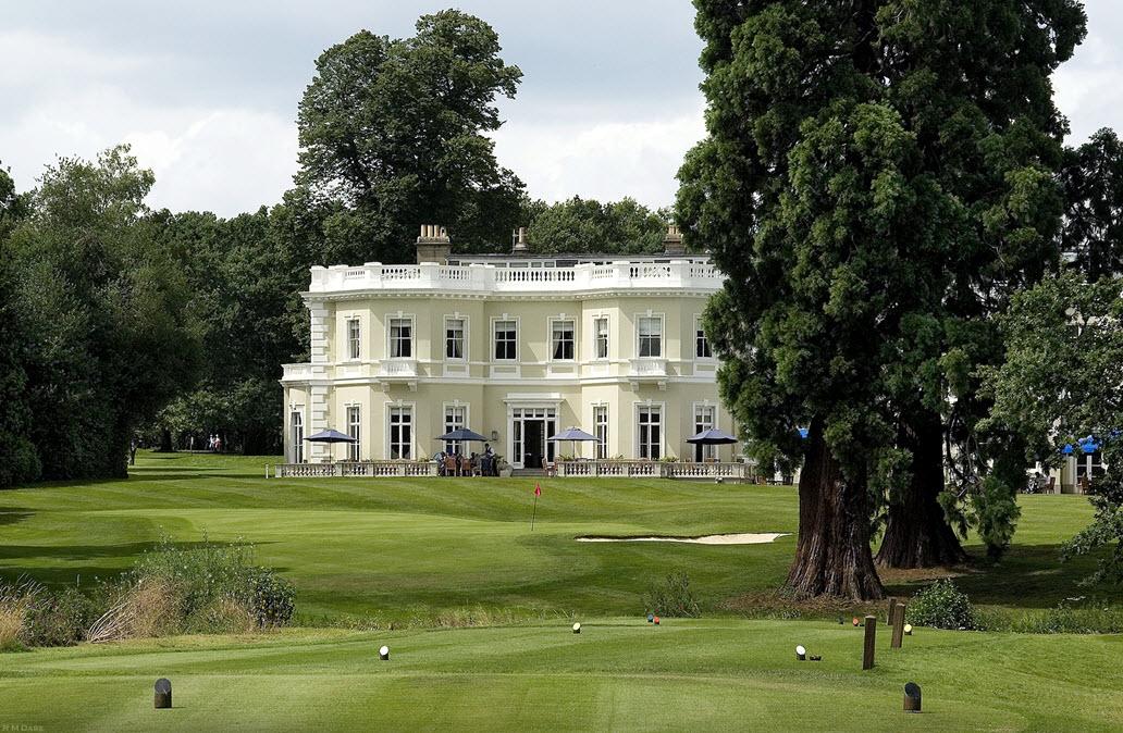 The Georgian clubhouse at Burhill Golf Club