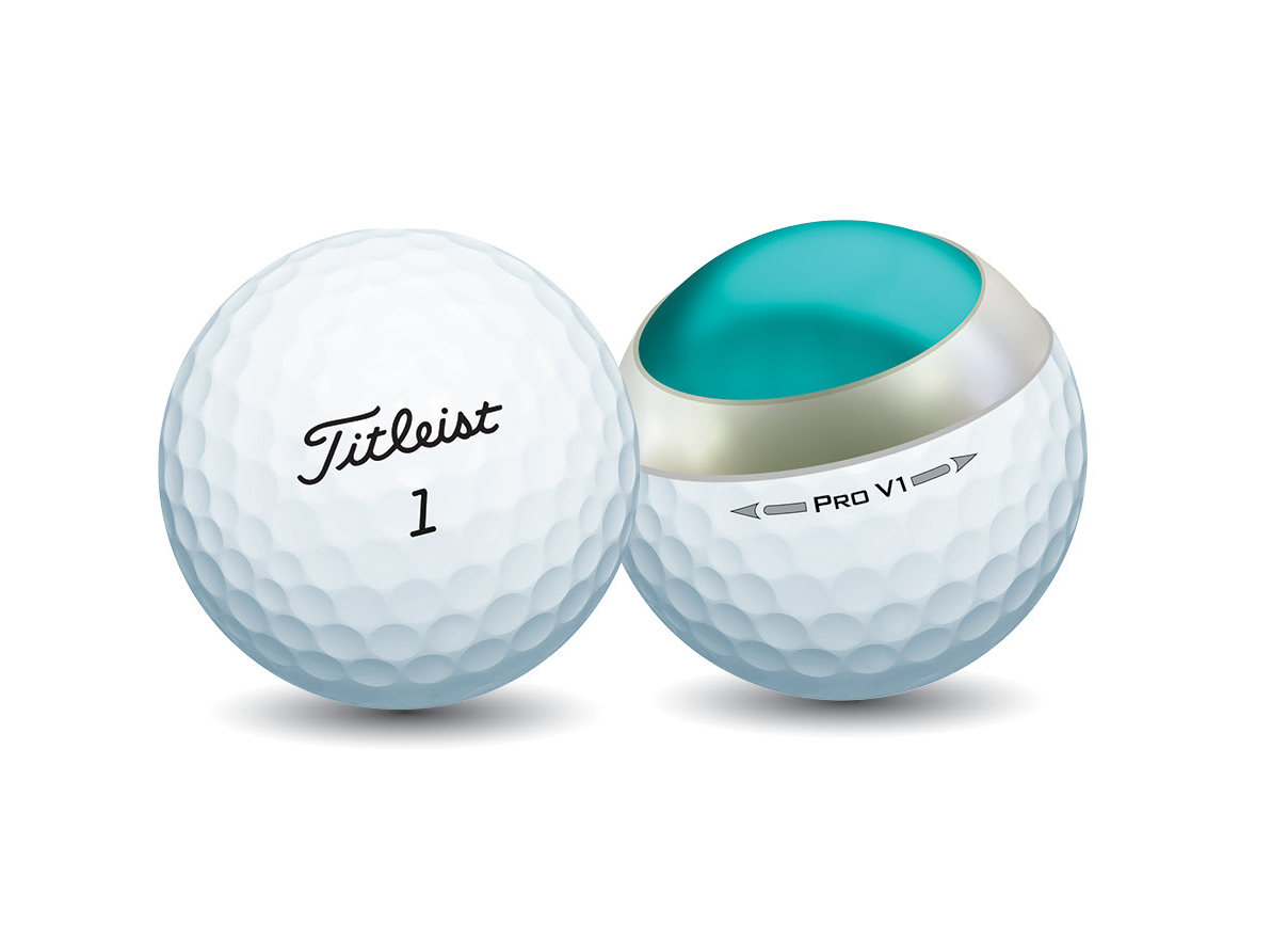 Titleist Pro V1 is a 3-piece ball with softer feel than Pro V1x