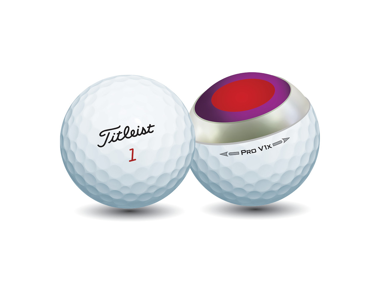 Titleist Pro V1x is a 4-piece ball with firmer feel than Pro V1