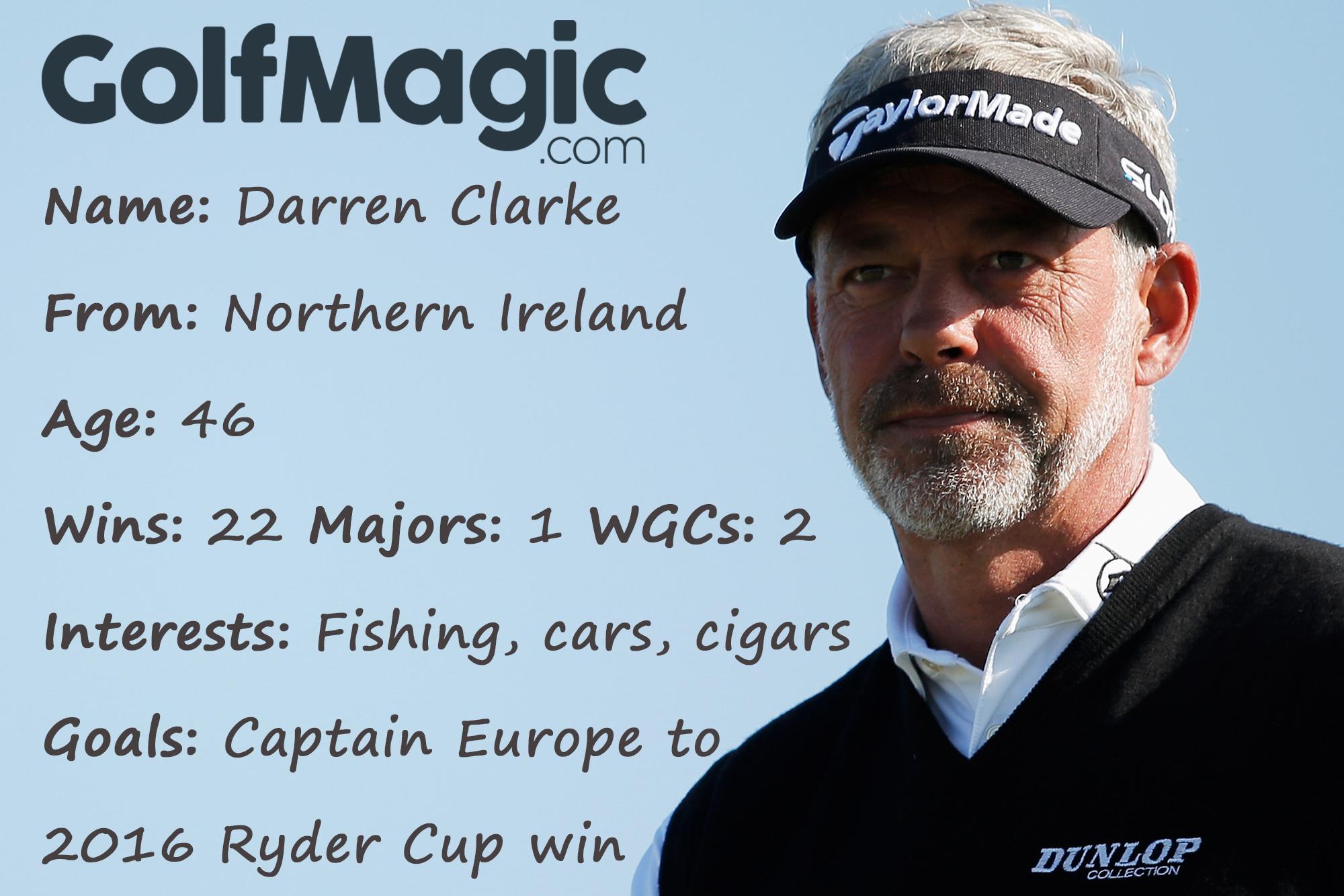 Darren Clarke has been named 2016 European Ryder Cup captain (Photo: Getty Images)