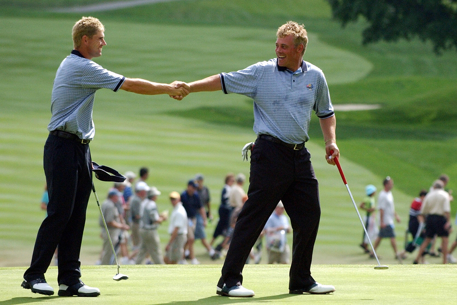Clarke performed admirably at the 2004 Ryder Cup taking three-and-a-half points from five, as Europe registered a record 18.5-9.5 victory over the USA at Oakland Hills (Photo: Getty Images)