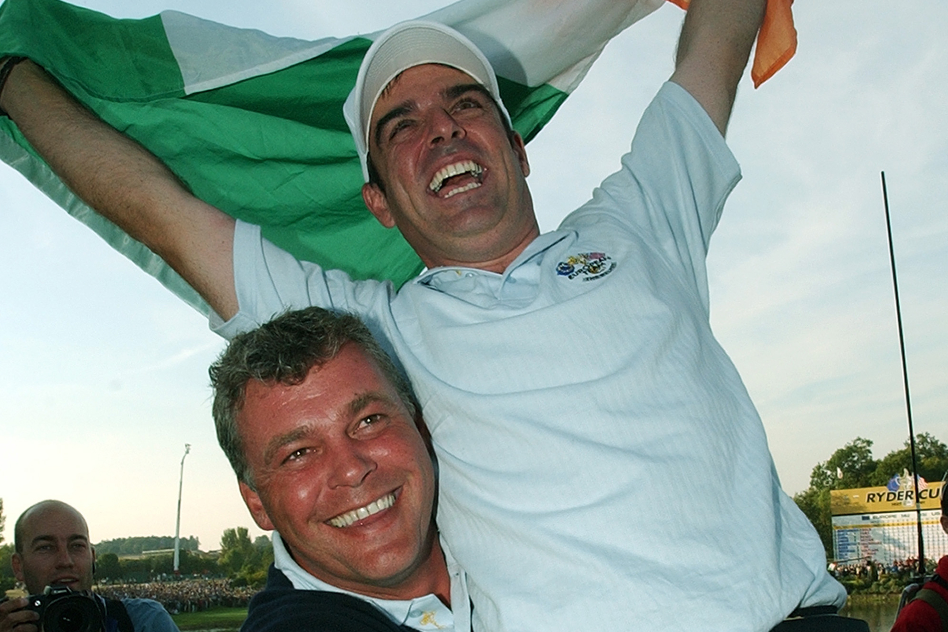 The following season, Clarke won the European Open in Ireland and clinched the English Open in 2002, months before helping Europe to win back the Ryder Cup at The Belfry (Photo: Getty Images)