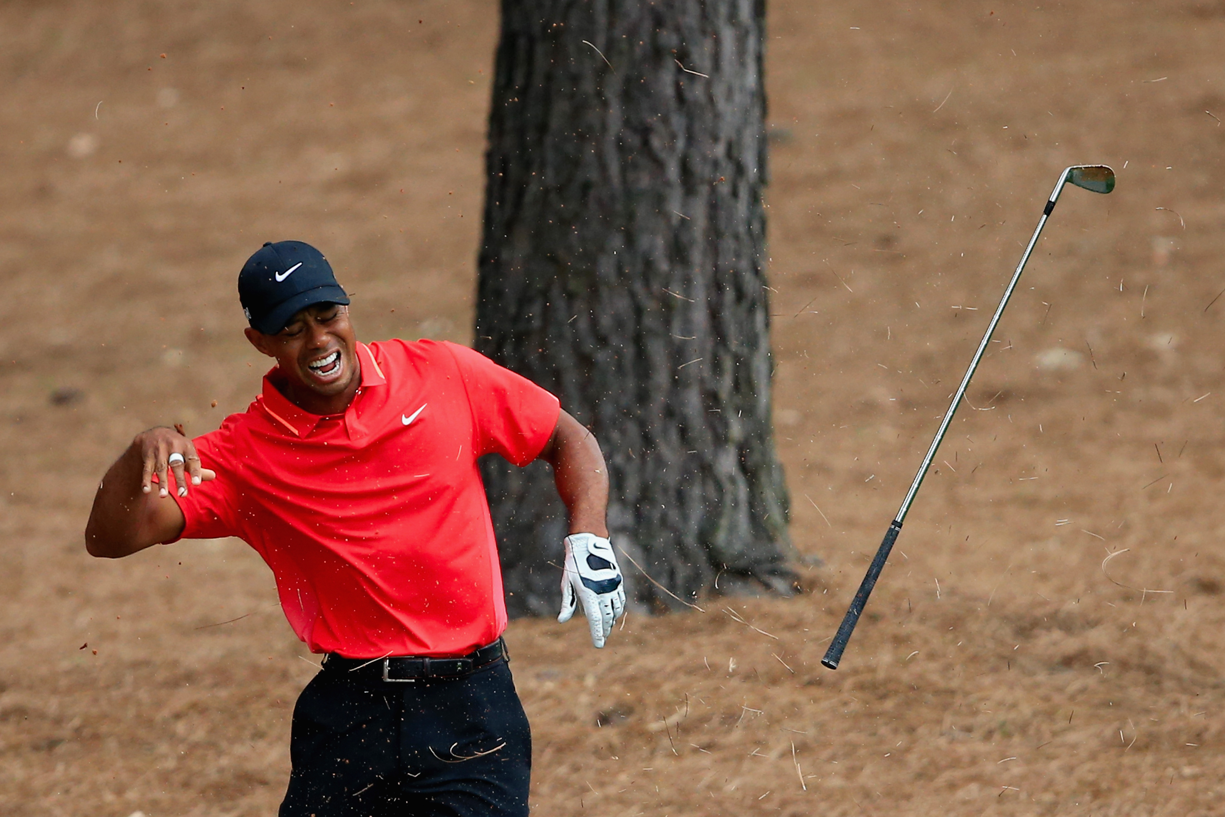 Woods claimed he put a bone back in his wrist (Photo: Getty Images)