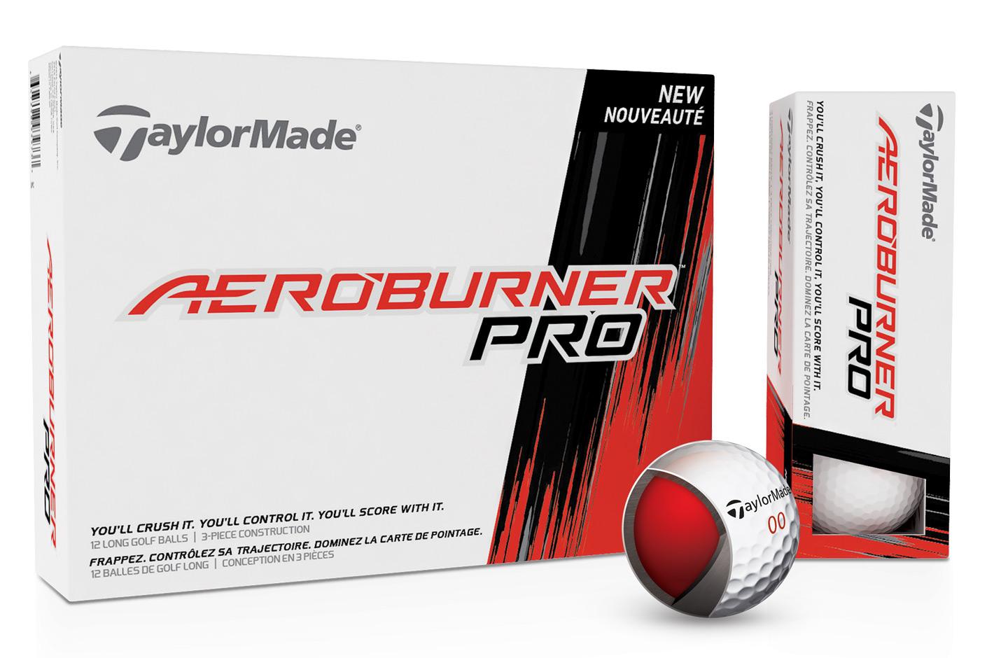 The new three-piece TaylorMade AeroBurner Pro ball