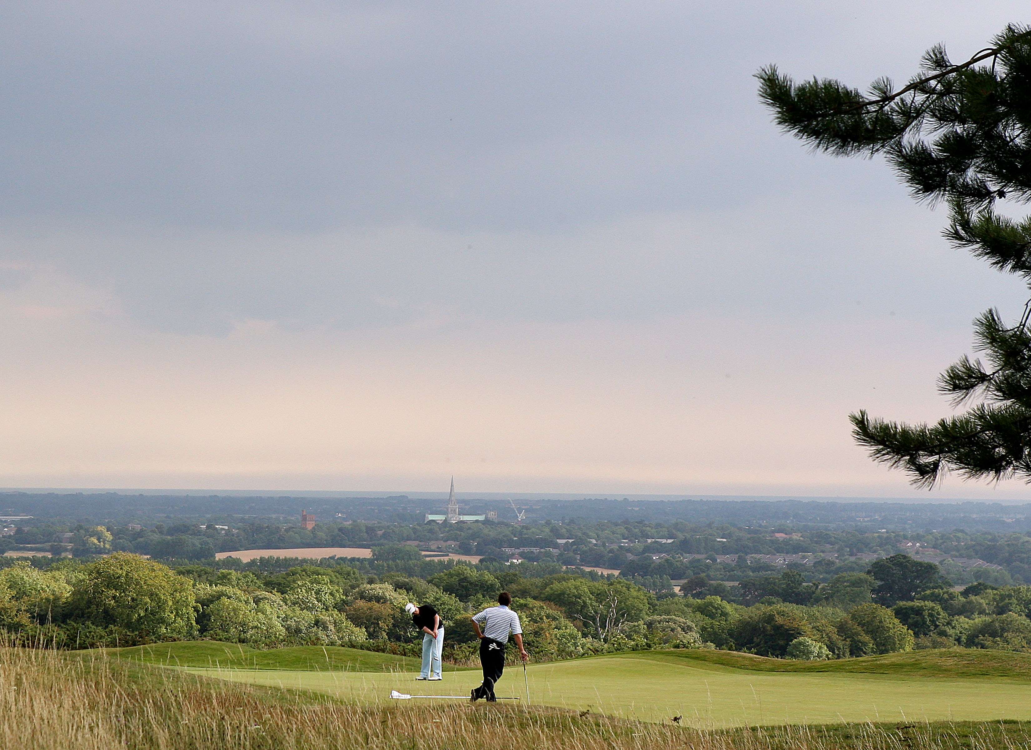 Goodwood's Downs course offers spectacular views over Chichester and the Solent (Photo: Getty)