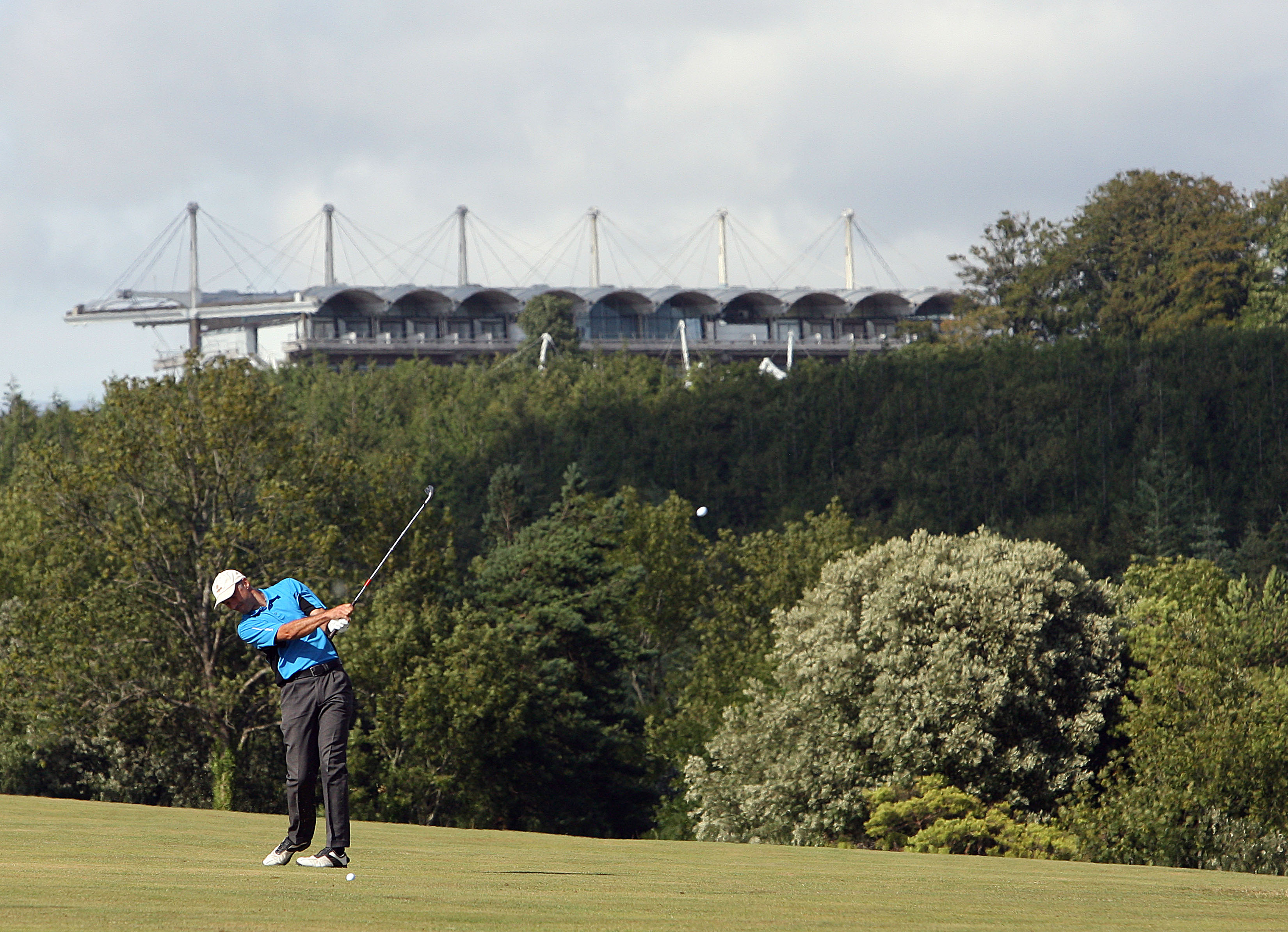The stands of Goodwood racecourse can be seen on top of the South Downs (Photo: Getty Images)