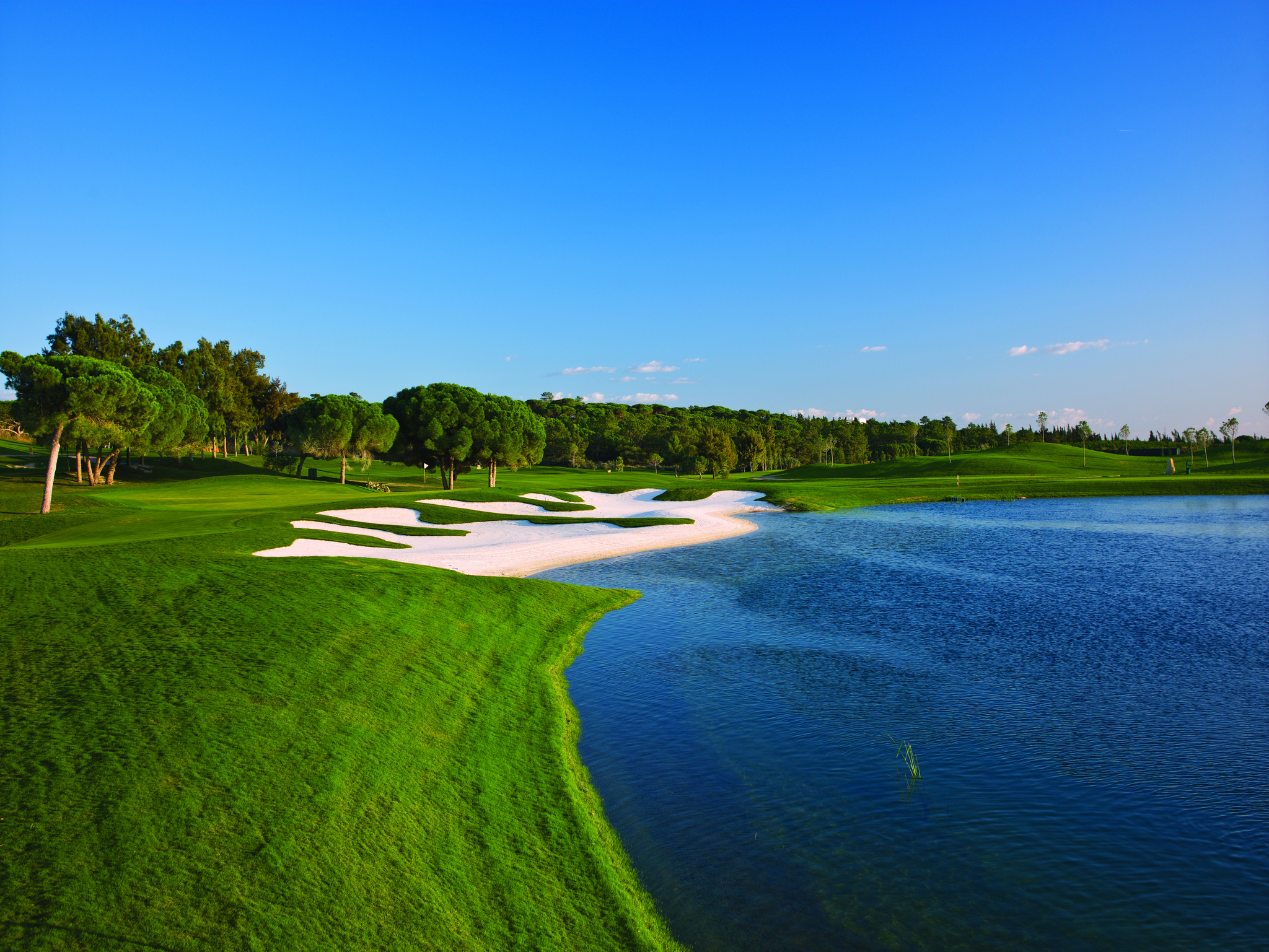 Err off the tee, and you could be visiting one of the numerous water hazards