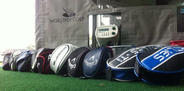 Our innocent ten fairway woods before we ripped their head covers off