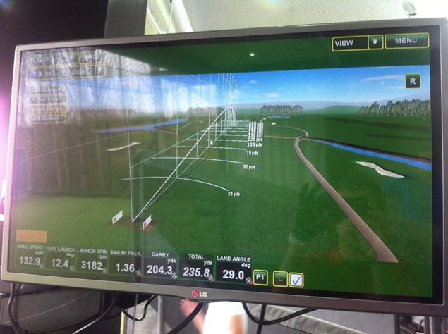 Trackman shot data was used during our test