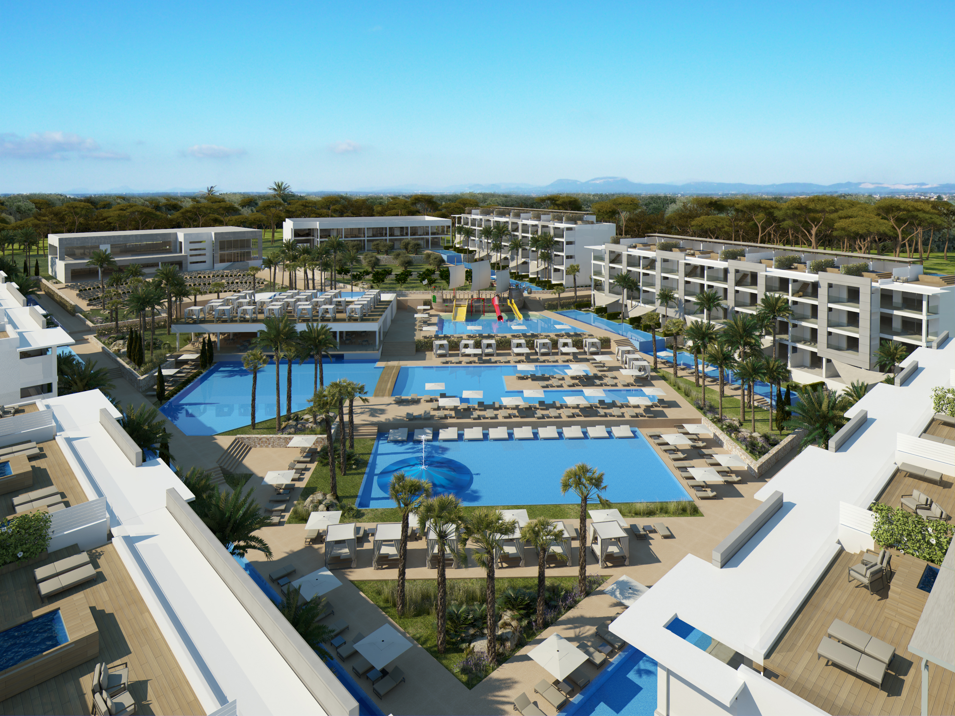 The luxurious five-star Viva Zafiro Alcudia is a short drive from Alcanada and 300m from the beach