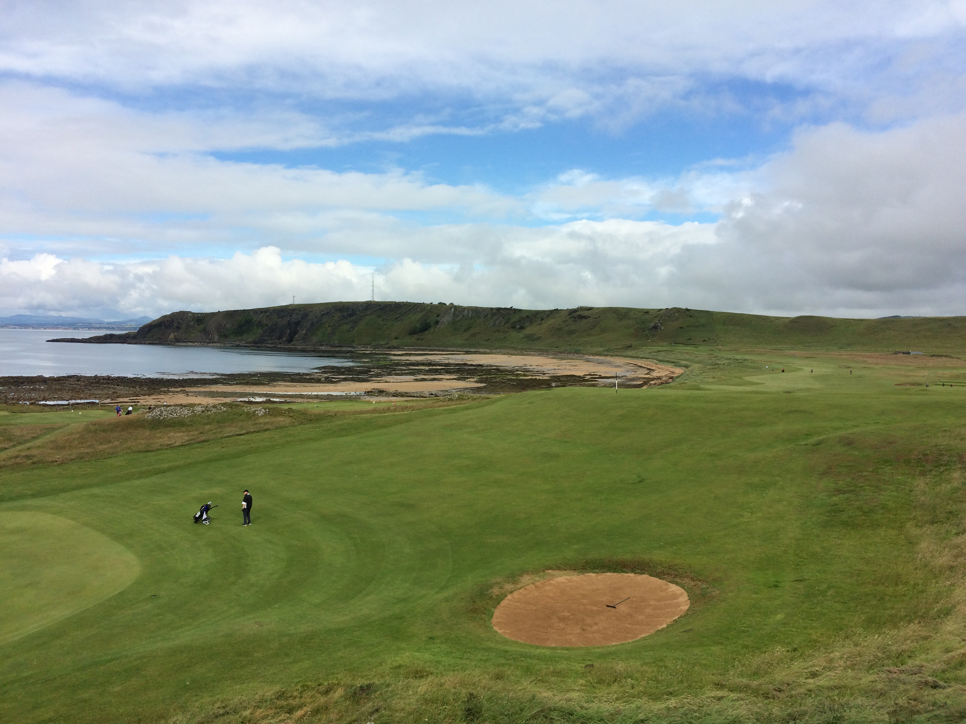 Elie's 10th hole features a blind drive over the brow of a hill