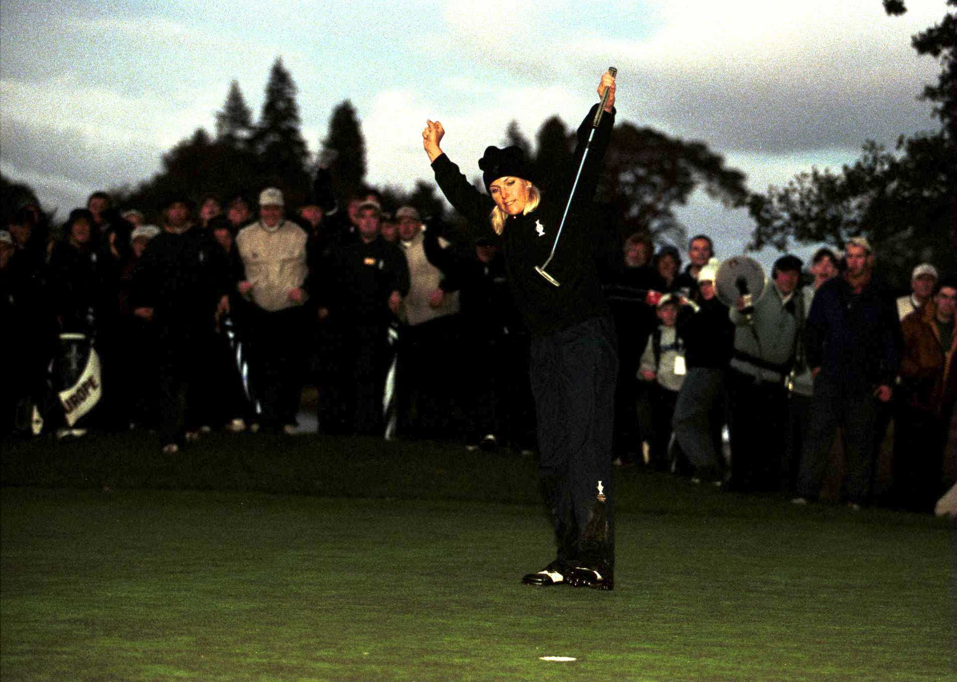 Koch sank the winning putt to stop the rot for Europe (Photo: Getty Images)