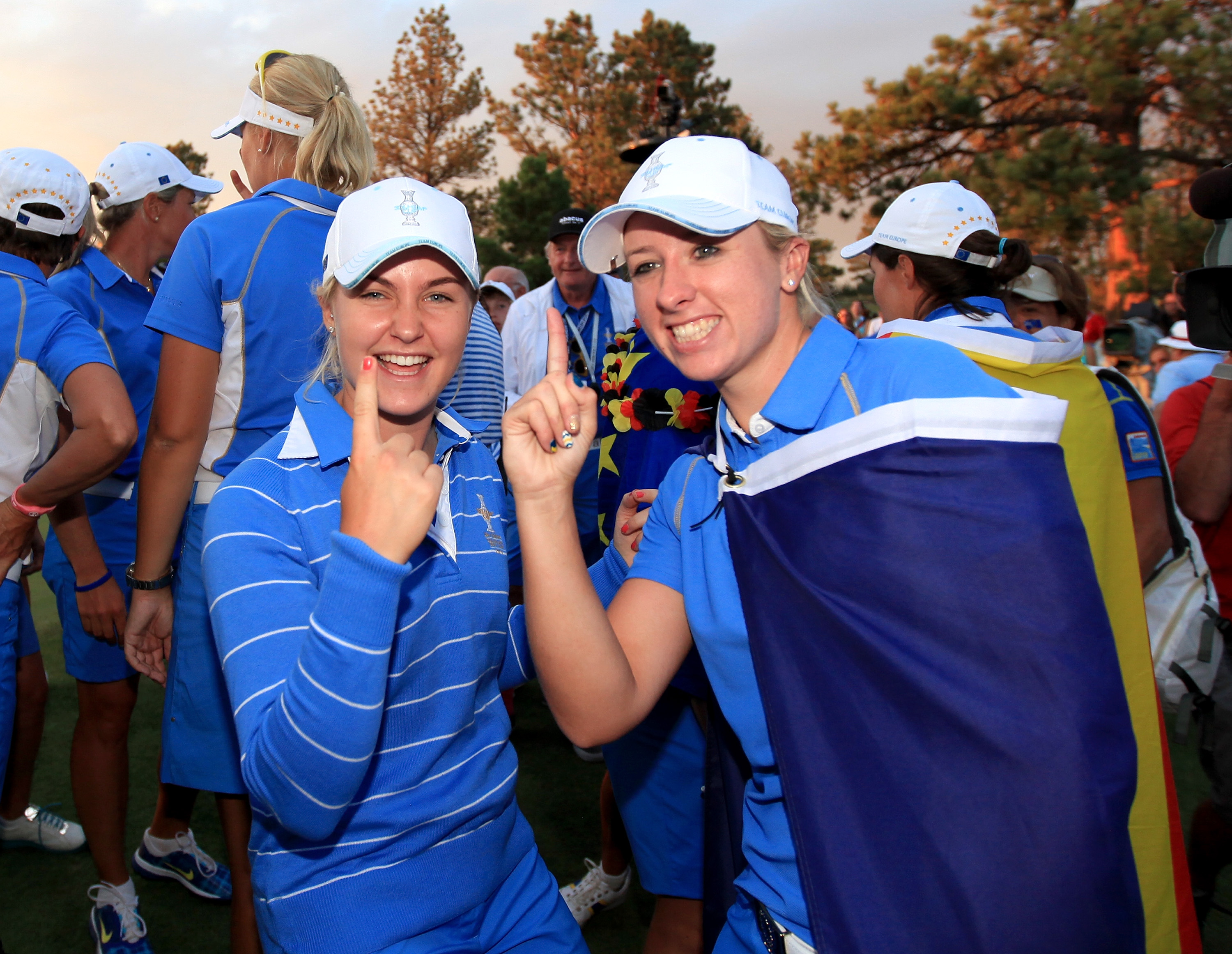 Hull (left) is the youngest player to compete in the Solheim Cup (Photo: Getty Images)