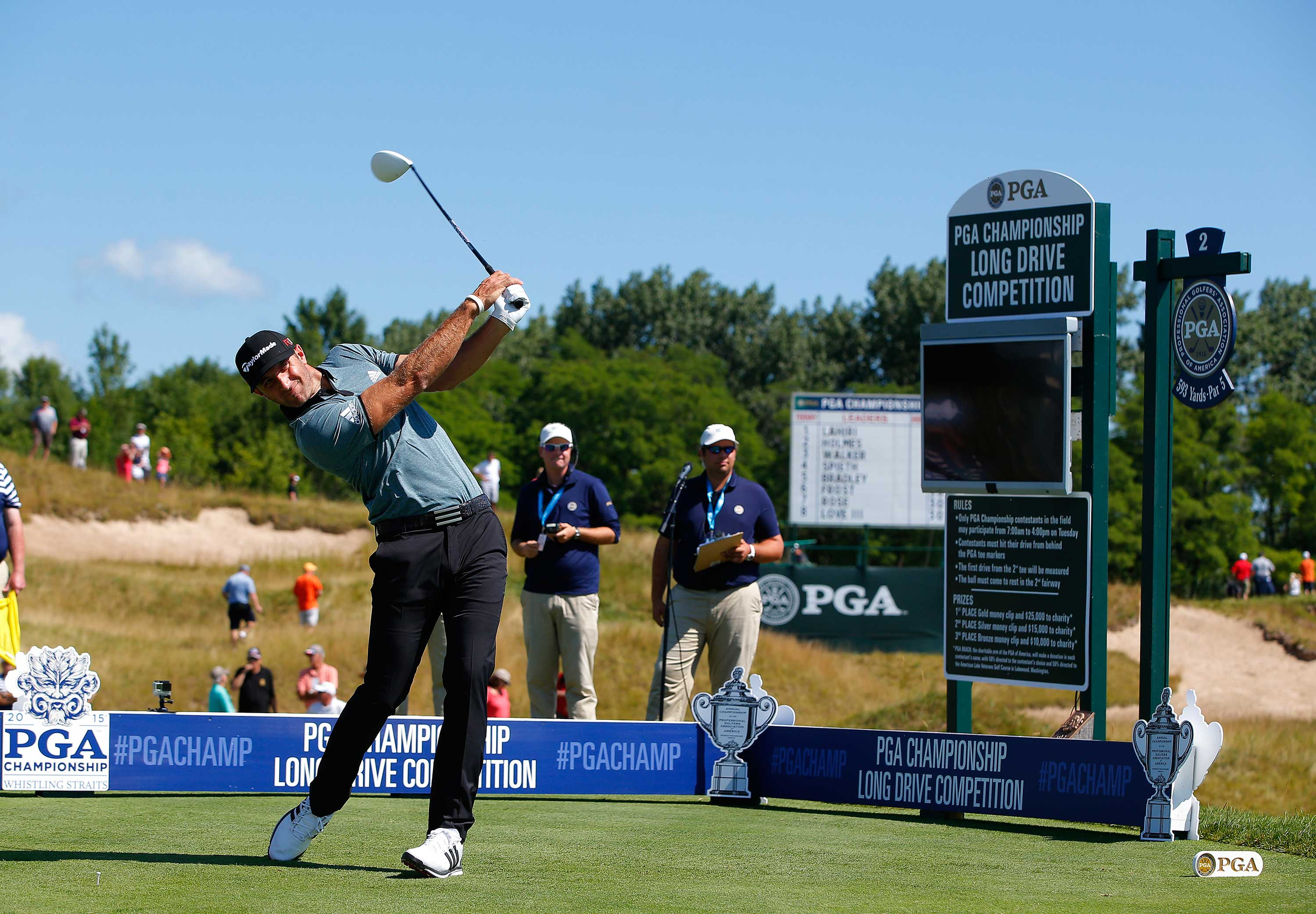 Big-hitting Dustin Johnson won the WGC-Cadillac Championship in March (Photo: Getty Images)