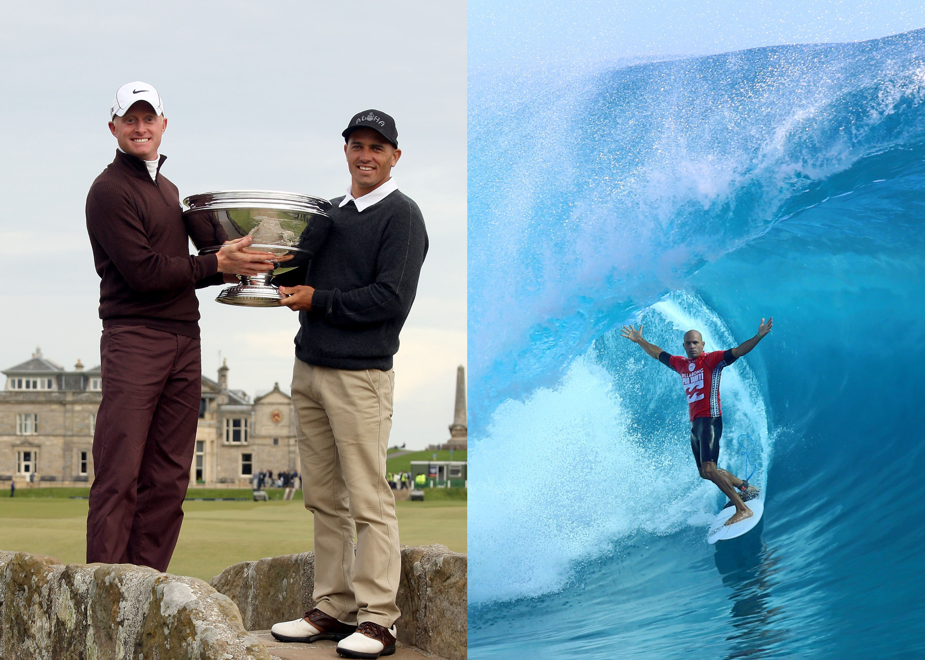 Dyson played with surfing great Kelly Slater in 2009 (Photo: Getty Images)
