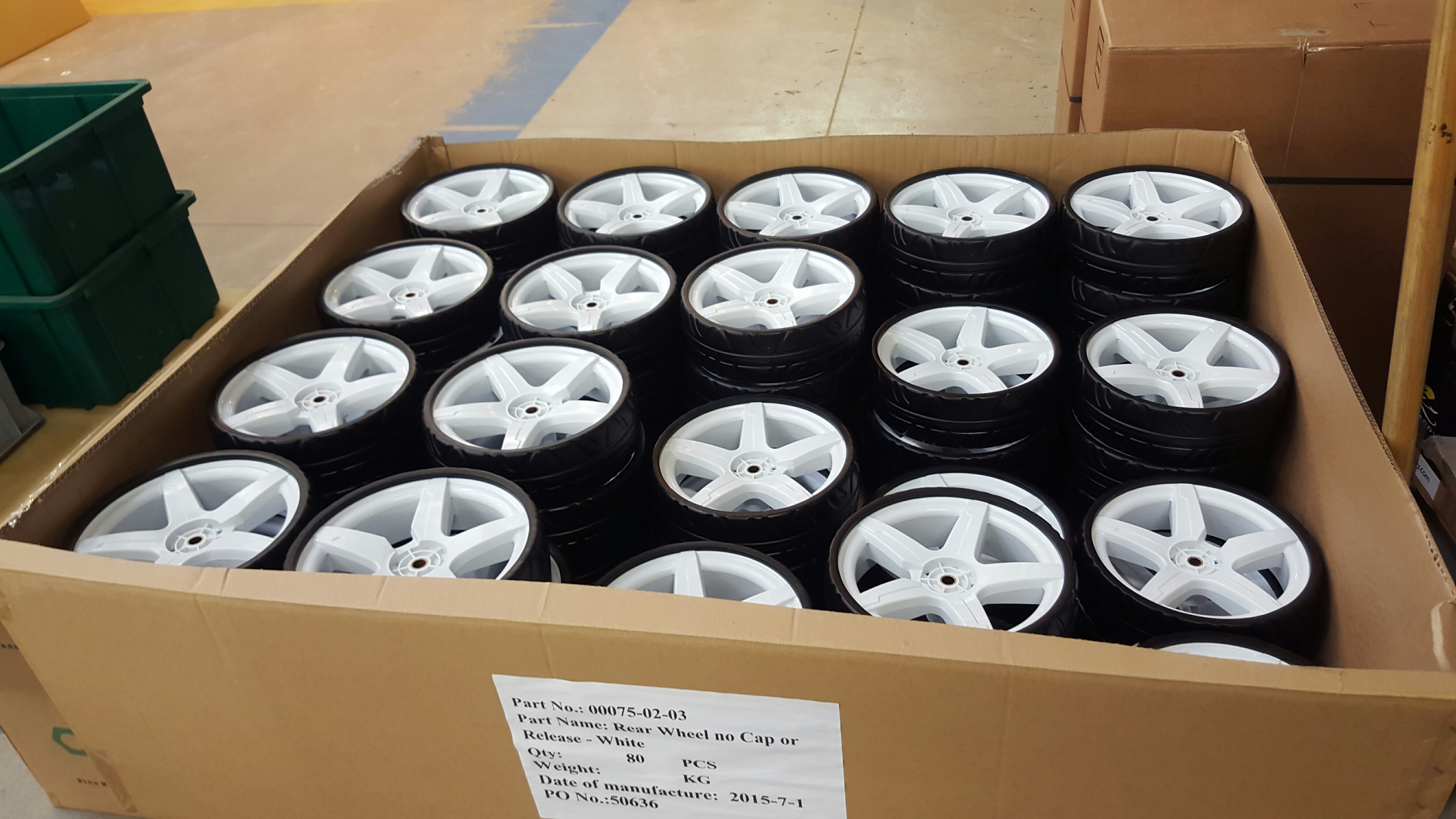 Wheels are removable, and Winter Wheels are available