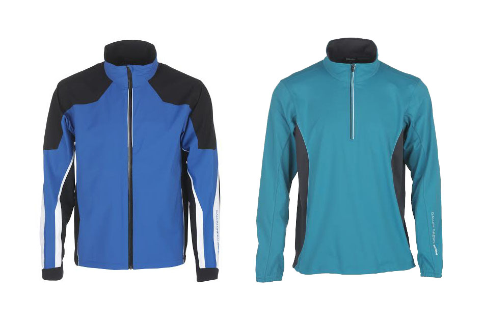 Arrow (full-zip, stretch fabric Gore-Tex jacket); Brad (half-zip Windstopper)