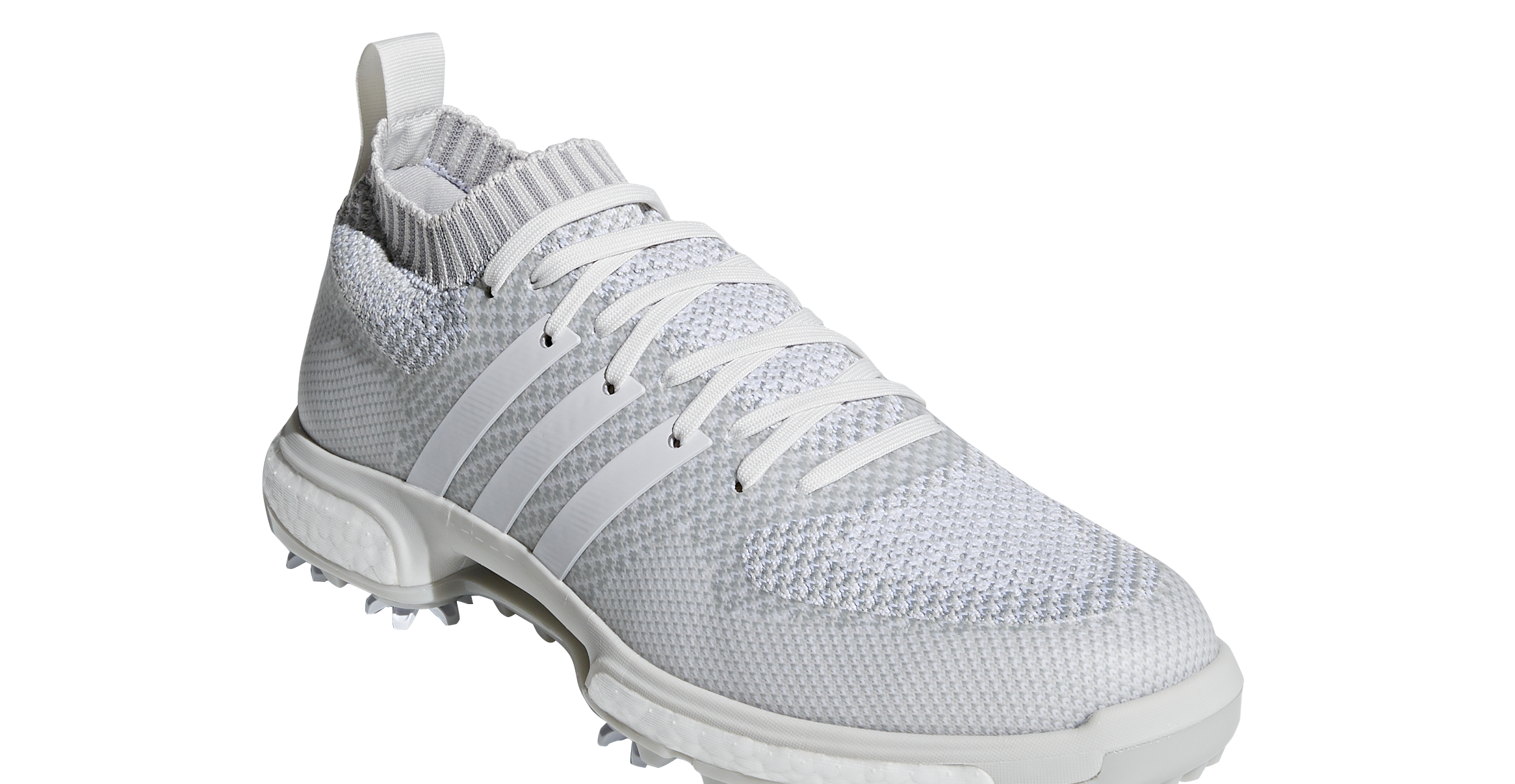 WIN! Dustin Johnson's adidas Golf Tour 360 Knit all white shoes