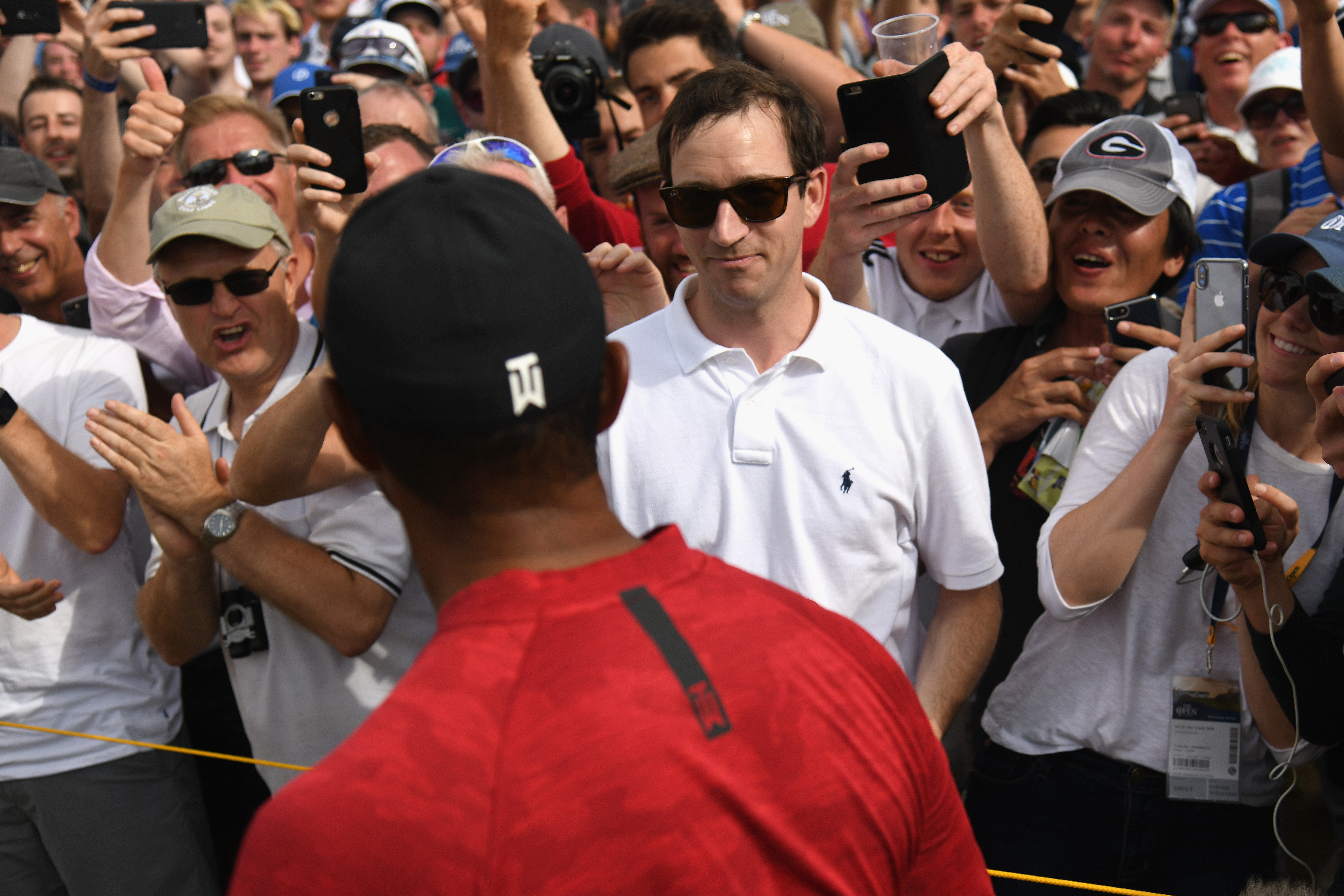 WATCH: Fan who was hit by Tiger Woods filmed entire incident