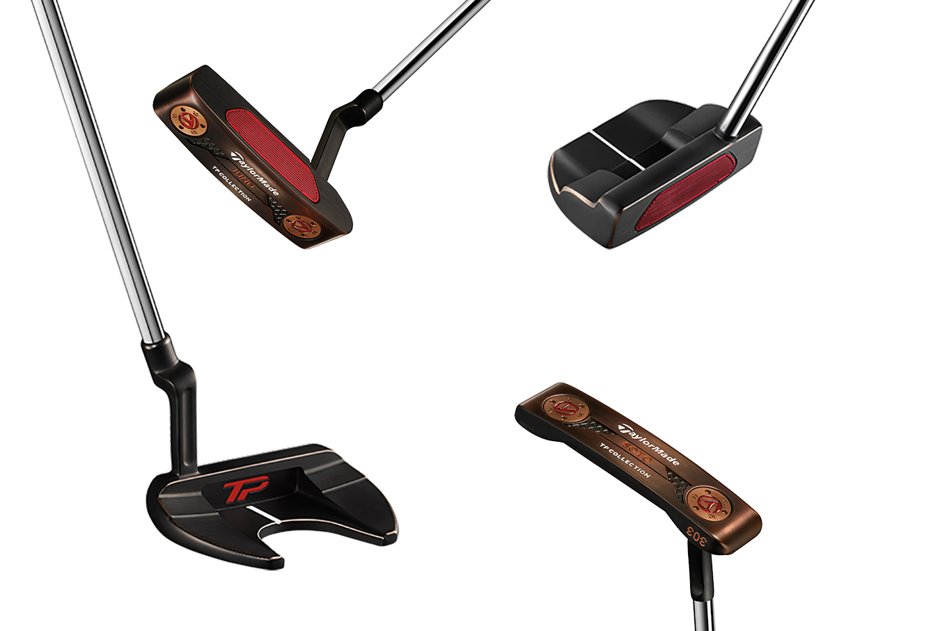 TaylorMade release TP Black Copper Collection of putters, used by Rory McIlroy