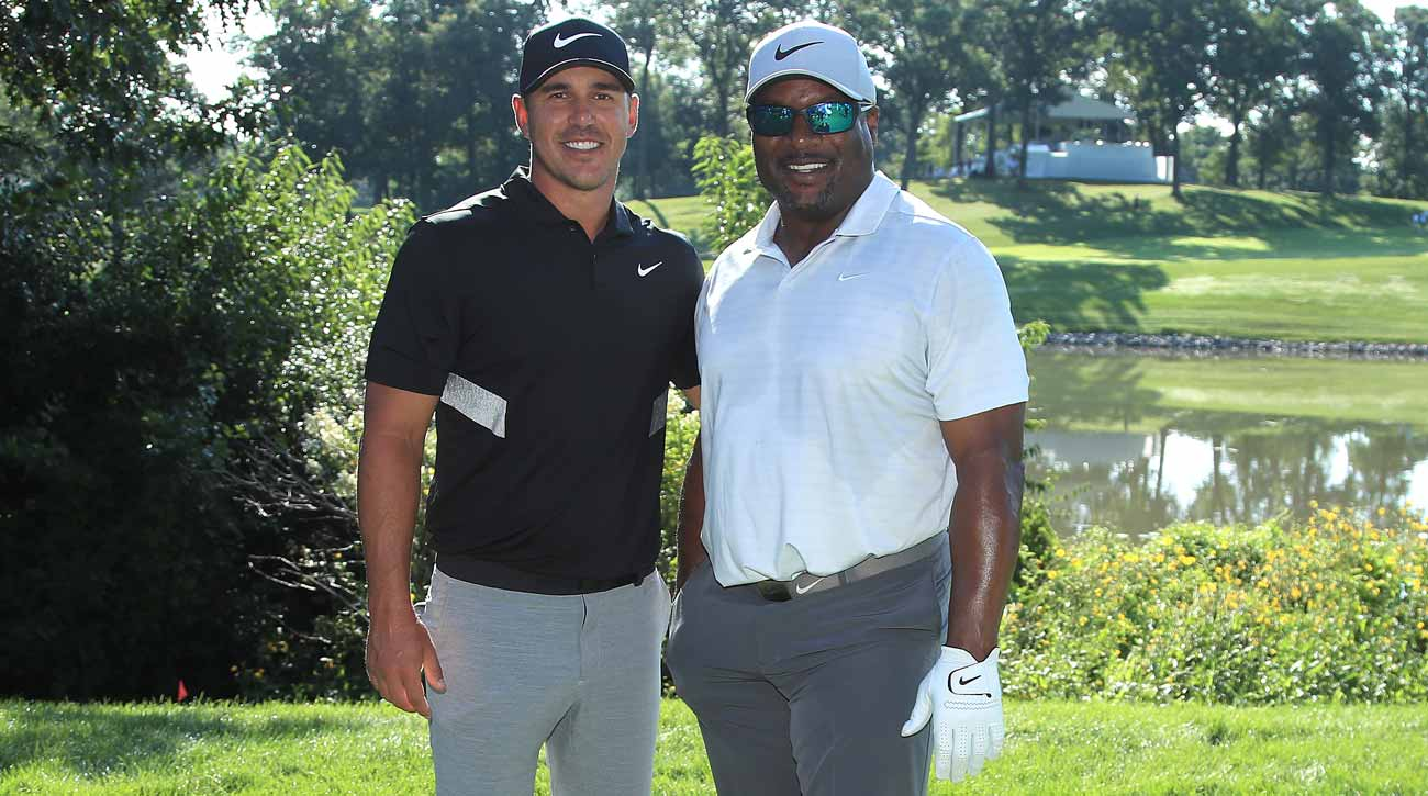 offer discounts good service cost charm Brooks Koepka and Bo Jackson wear custom Nike shoes at BMW ...