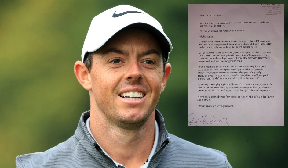 Rory McIlroy responds to young fan and budding golfer's letter...