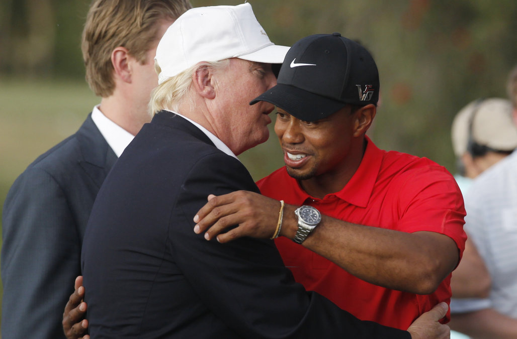 Donald Trump tweets support of Tiger Woods