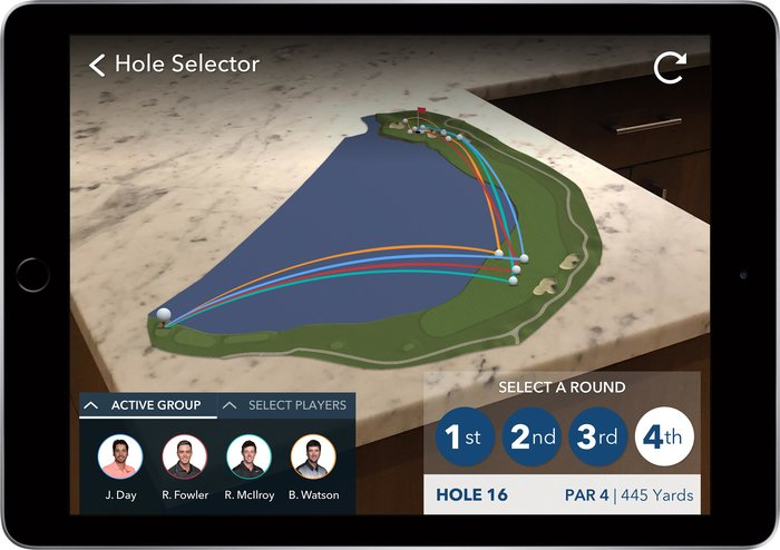 PGA Tour launch augmented reality app for iPhone and iPad