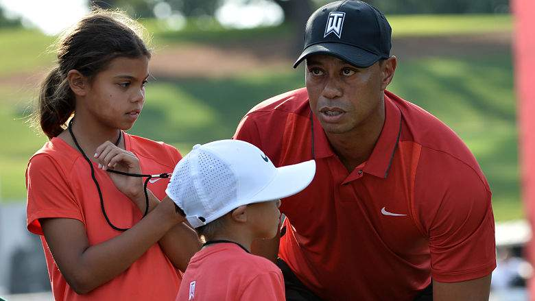 """Tiger Woods to kids after Open T6: """"Hopefully you're proud of pops"""""""