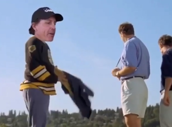 WATCH: The Happy Gilmore remake of Mickelson's moving ball incident!