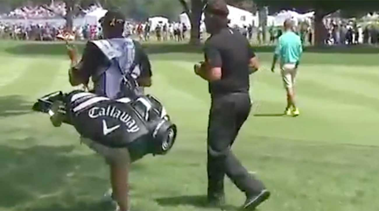 WATCH: Phil Mickelson is now dancing on the golf course!