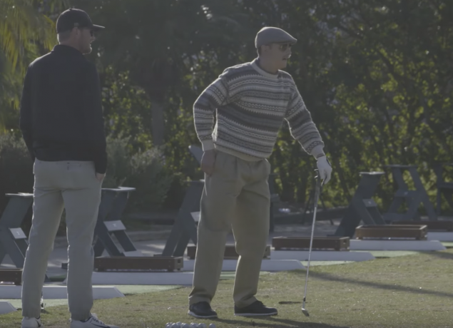Long drive champ punks golfers as 'grandpa Jamie'