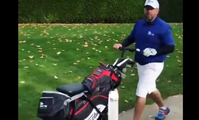WATCH: Is this the coolest golf trolley ever?!