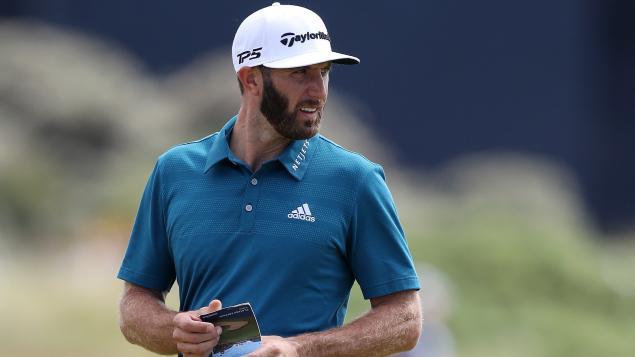 WATCH: Dustin Johson's LEFT-HANDED golf swing could probs break 80!