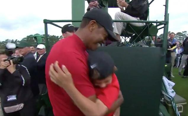 WATCH: Tiger Woods' heartfelt hug with son after winning The Masters