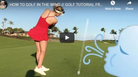 WATCH: How best to play golf in the wind, with Paige Spiranac