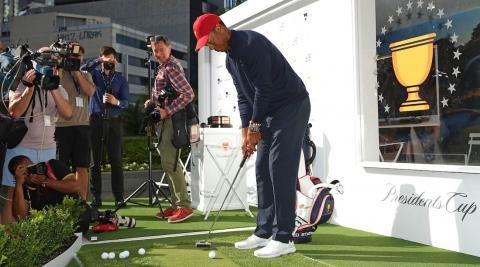 Tiger Woods spotted using Scotty Cameron Futura putter at golf shoot