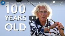 WATCH: 100-year-old golfer takes aim at KLM Open 'Beat the Pro'