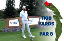 How many shots would it take you to play this 1,100 yard hole?