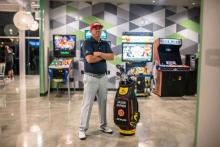 Jason Dufner testing Cobra 3D PRINTED PUTTER ahead of Arnold Palmer Invitational